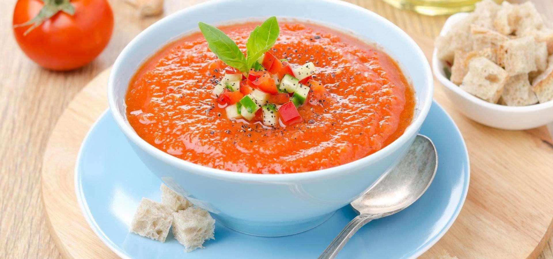 Холодный крем-суп гаспачо